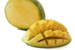Mango. Cubed mango isolated on white background with clipping path Royalty Free Stock Photography