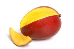 Mango. On the white background Royalty Free Stock Images