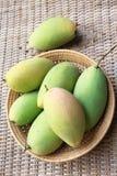 Mango. Namdokmai Tahi in the rattan baskets Royalty Free Stock Photo