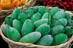 Mango. In bamboo basket of thailand Royalty Free Stock Photo