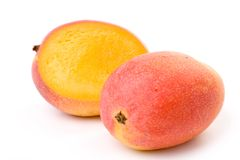 Mango. Red Mango close up shot Stock Photos