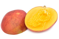 Mango. Sliced juicy mango isolated on white background Royalty Free Stock Photo