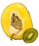 Mango. And kiwi isolated on white background Royalty Free Stock Photo