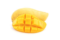 Mango amarillo maduro dulce fotografía de archivo