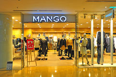 Mango apparel store hong kong royalty free stock photos