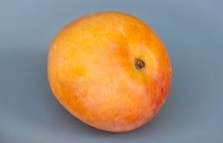 Mango auf einem grauen Hintergrund Stockbild