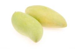 Mango auf weißem Hintergrund Stockfotografie