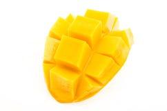 Mango auf weißem Hintergrund Stockbild