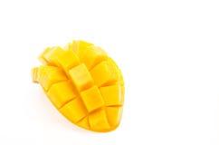 Mango auf weißem Hintergrund Lizenzfreies Stockfoto