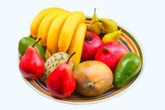 Mango, avocado, annona, bananas, pears, pomegranates. Stock Photography
