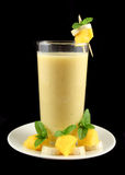Mango And Banana Smoothie Stock Photo