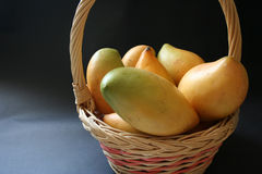 Mango basket Royalty Free Stock Photo