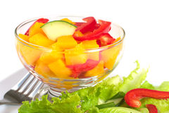 Mango and Bell Pepper Salad Stock Photos