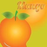 Mango. Big mango on special orange background Stock Images