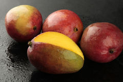 Mango on black background Royalty Free Stock Photography