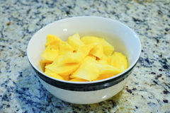 Mango in a bowl Royalty Free Stock Photo