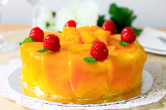 Mango Cake Royalty Free Stock Image