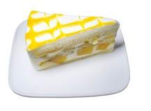 Mango cake yogurt Royalty Free Stock Photos