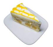 Mango cake yogurt Royalty Free Stock Images