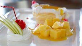 Mango cheese cake Stock Photography