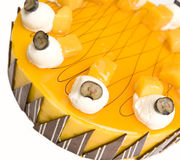 Mango cheesecake Royalty Free Stock Images