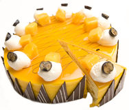 Mango cheesecake Stock Images