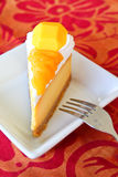 Mango cheesecake Stock Photography