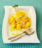 Mango cheesecake Stock Photos