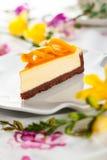 Mango Cheesecake Stock Photo
