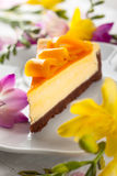 Mango Cheesecake Stock Photo