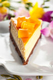 Mango Cheesecake Royalty Free Stock Photography