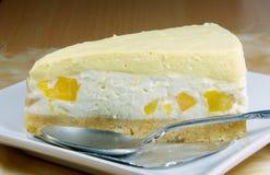 Mango cheesecake,seasoning dessert. Stock Photos