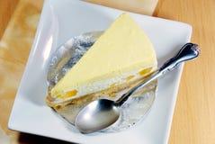 Mango cheesecake,seasoning dessert. Royalty Free Stock Images