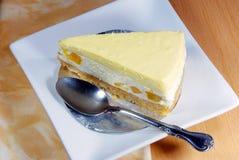 Mango cheesecake,seasoning dessert. Stock Photo