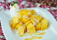 Mango cheesecake Stock Images