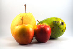 Mango chino de la pera de las manzanas rojas Fotografía de archivo libre de regalías
