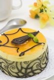 Mango chocolate cake Royalty Free Stock Photos
