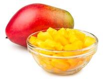Mango chunks bowl Royalty Free Stock Photography