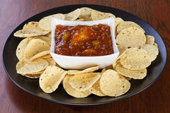 Mango Chutney and Mini Poppadums Stock Photos