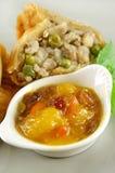 Mango Chutney With Samosa Royalty Free Stock Photo