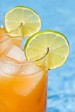 Mango Cocktail by the Pool Stock Photos