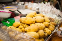 Mango cooked golden golden. stock photo