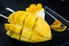 Mango crepe cake Stock Photos