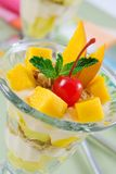 Mango crunch parfait Stock Photo
