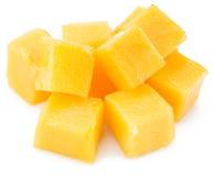 Mango cubes. Royalty Free Stock Images