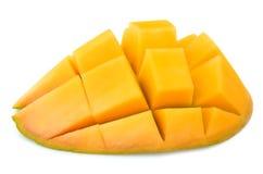 Mango cut. Sweet mango cut close up Stock Photos