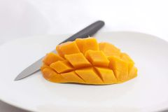 Mango cut Royalty Free Stock Photos