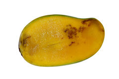 Mango. Cut crosswise rotten due to poor storage, isolated on white background with clipping path Stock Photos