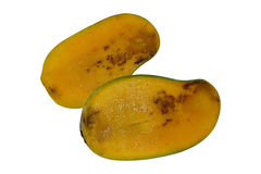 Mango. Cut crosswise rotten due to poor storage, isolated on white background with clipping path Stock Photography