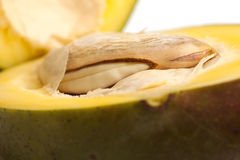 Mango cut in half Royalty Free Stock Photo